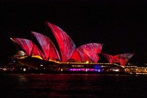 Opera House - lit up by Vivid Festival