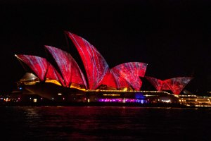 Opera House - lit up by Vivid Festival