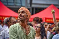 Orange turban.