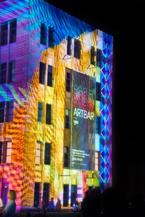 Sydney buildings became screens for laser shows.