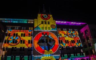 Sydney buildings became screens for laser shows.